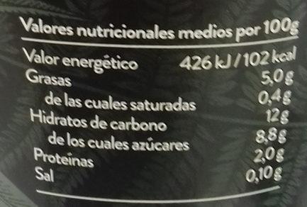 Begetal de almendra con vainilla - Información nutricional - es