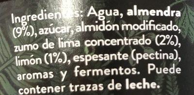 Kaiku Begetal de Almendra con Lima - Ingrédients