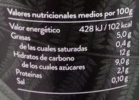 Kaiku Begetal de Almendra con Lima - Información nutricional