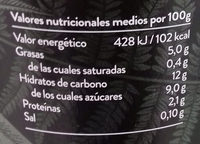 Begetal de Almendra con Lima - Informations nutritionnelles - es