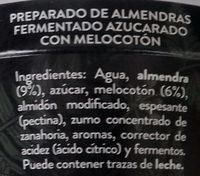 Begetal de Almendra con Melocotón - Ingredients