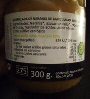Mermelada de naranja - Nutrition facts - es