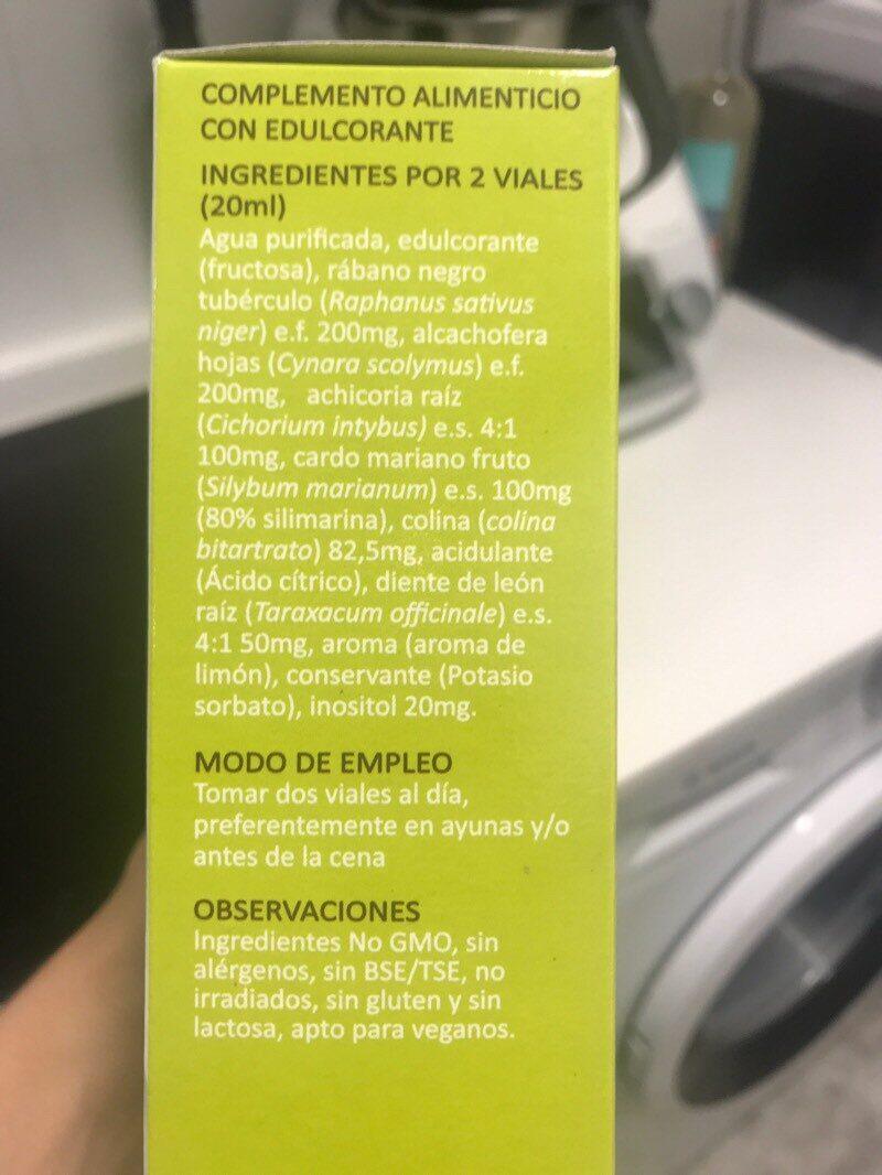 Hepa-norm viales - Informations nutritionnelles