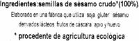 "Sésamo crudo ecológico ""Bio Cesta"" - Ingredients"