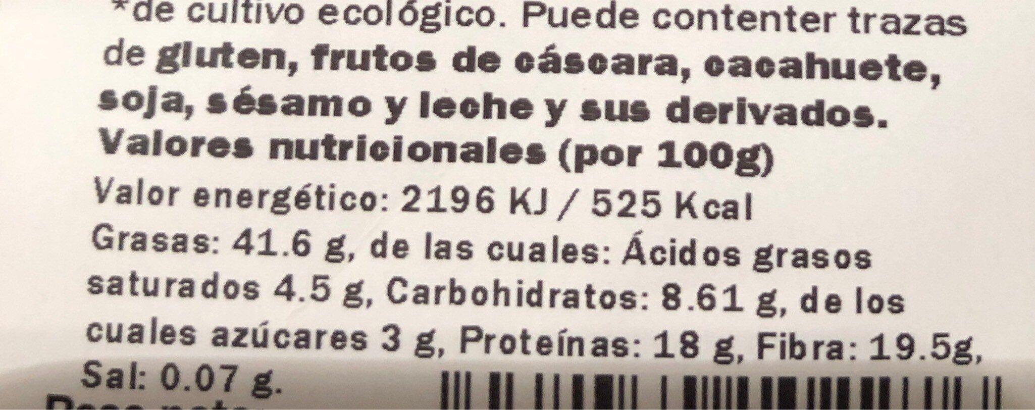 Semillas de amapola - Informations nutritionnelles - es