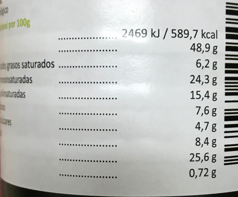 Organic Crema de Cacahuete Crunchy - Valori nutrizionali - fr