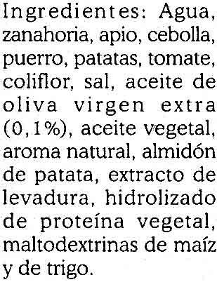 Caldo de verduras - Ingrédients - es