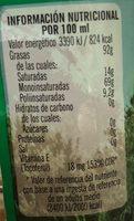 Oli De Orujo Lindoliva La Masia - Ingredientes
