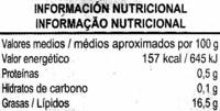 Aceitunas negras con hueso (DESCATALOGADO) - Informació nutricional - es