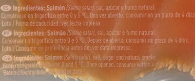 Salmón ahumado en lonchas - Ingredients - fr