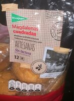 Magdalenas cuadradas artesanas sin lactosa envasadas - Product