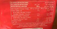 Magdalenas cuadradas artesanas sin lactosa envasadas - Nutrition facts