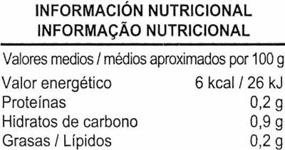 Caldo de verduras con aceite de oliva virgen extra sin gluten envase 1 l - Información nutricional