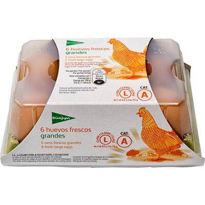 6 huevos frescos grandes - 4