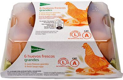 6 huevos frescos grandes - Produit