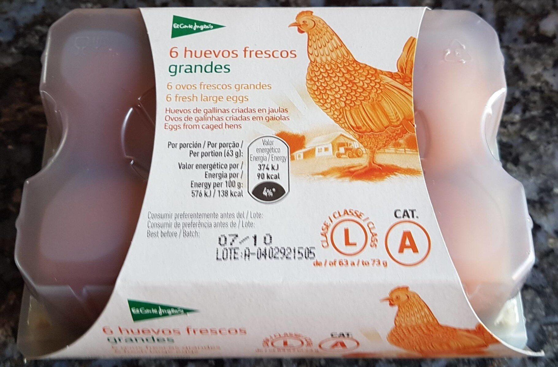 Huevos frescos grandes - Informations nutritionnelles - es