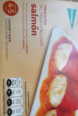 Pimientos del piquillo rellenos de salmón - Nutrition facts