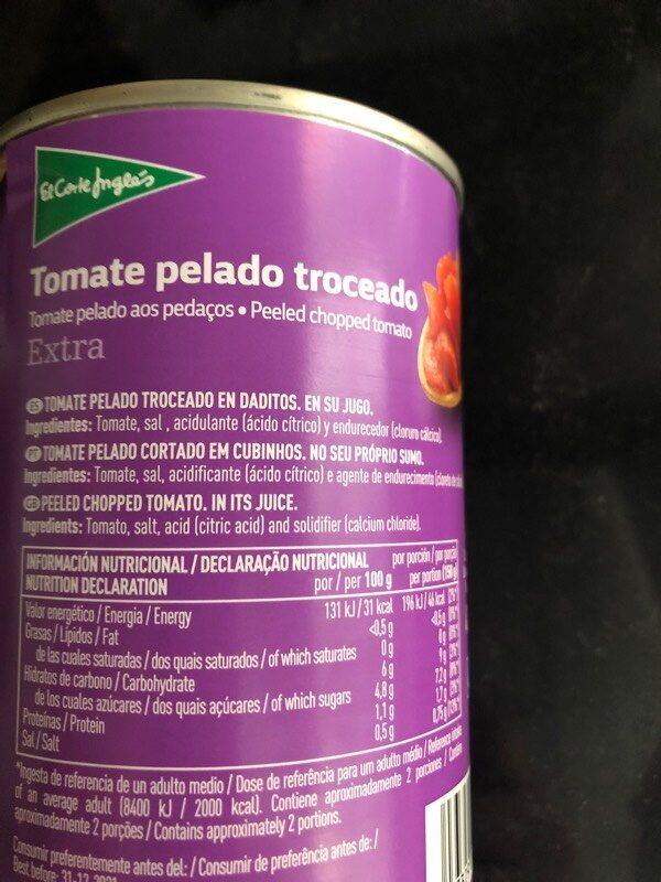 Tomate pelado troceado extra - Ingrédients - es