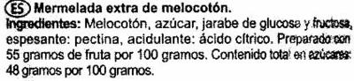 Mermelada de melocotón - Ingredients - es