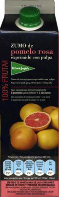 Zumo de pomelo rosa exprimido - Producto - es