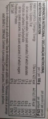 Habas fritas tarrina - Informations nutritionnelles - es