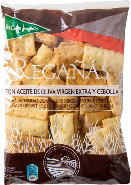 Regañás con aceite de oliva virgen extra y cebolla - Producto