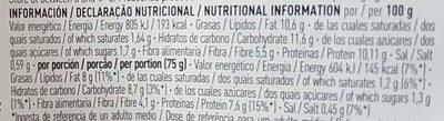 Bio hamburguesa vegetal de setas y manzana sin gluten ecológica - Nutrition facts