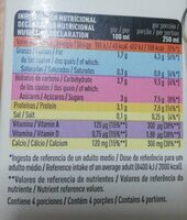 Bebida de soja enriquecida con calcio vegetal - Nutrition facts - es