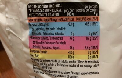 Fructosa - Informations nutritionnelles