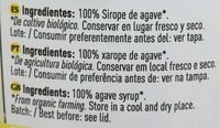 Sirope de Agave - Ingredientes