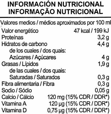 """Bebida de soja """"Aliada"""" - Información nutricional"""