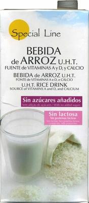 Bebida de arroz UHT, vitaminas A y D y calcio - Product