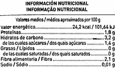 """Salteado de verduras congelado """"Aliada"""" Tradicional - Nutrition facts"""