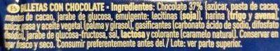Galletas con chips de chocolate - Ingredientes - es