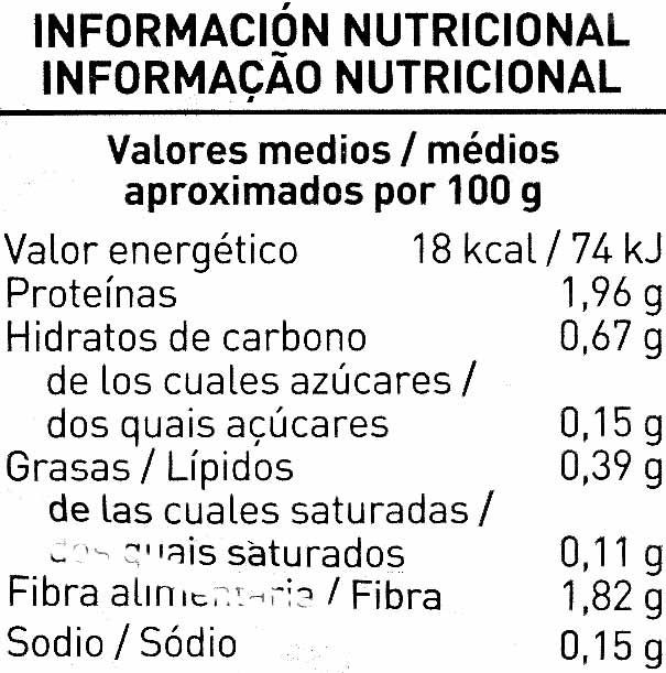 Ensalada Brotes tiernos - Información nutricional