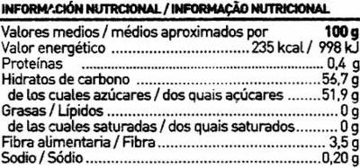 Dulce de membrillo tarrina 400 g - Informations nutritionnelles - es