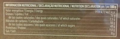 Mazapán de Soto - Informations nutritionnelles - es
