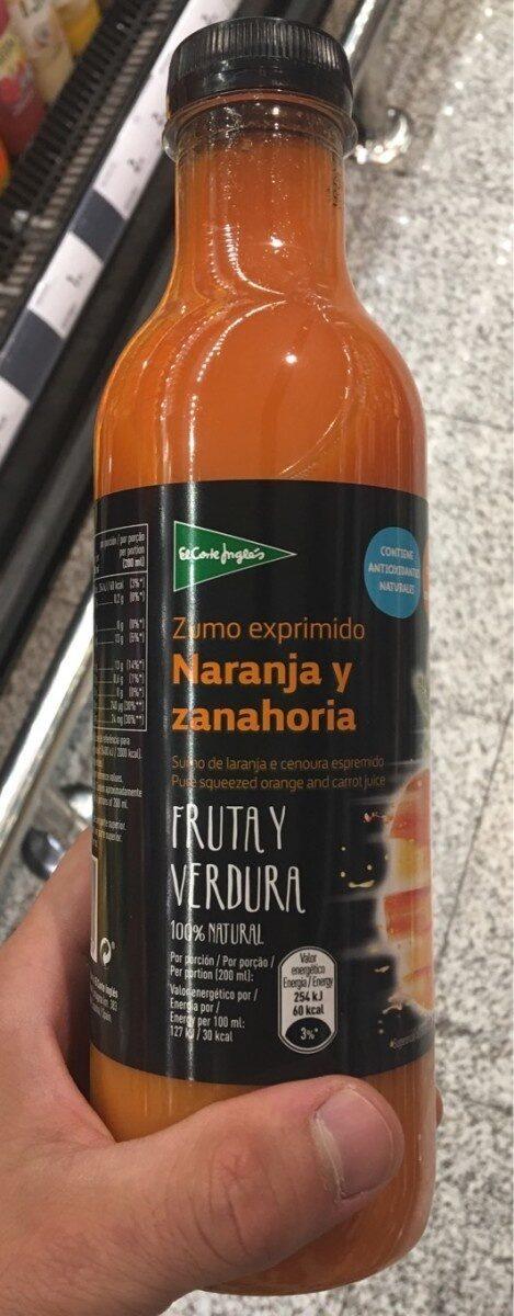 Zumo Exprimido Naranja Y Zanahoria El Corte Ingles English, one page, new york, in french, en inglés, en inglés, in engish. open food facts