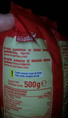 Pastas para sopa estrellas - Ingrediënten - es