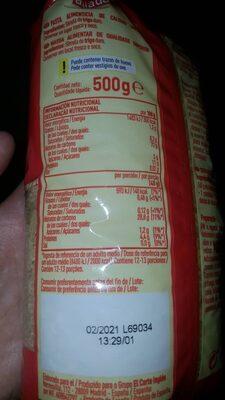 Pastas para sopa estrellas - Voedingswaarden - es