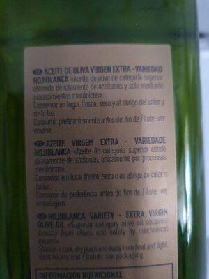 Aceite de oliva virgen extra Hojiblanca - Ingredients - es