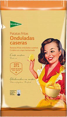 Patatas fritas onduladas caseras con 37% en aceite de oliva bolsa 170 g - Producto - es