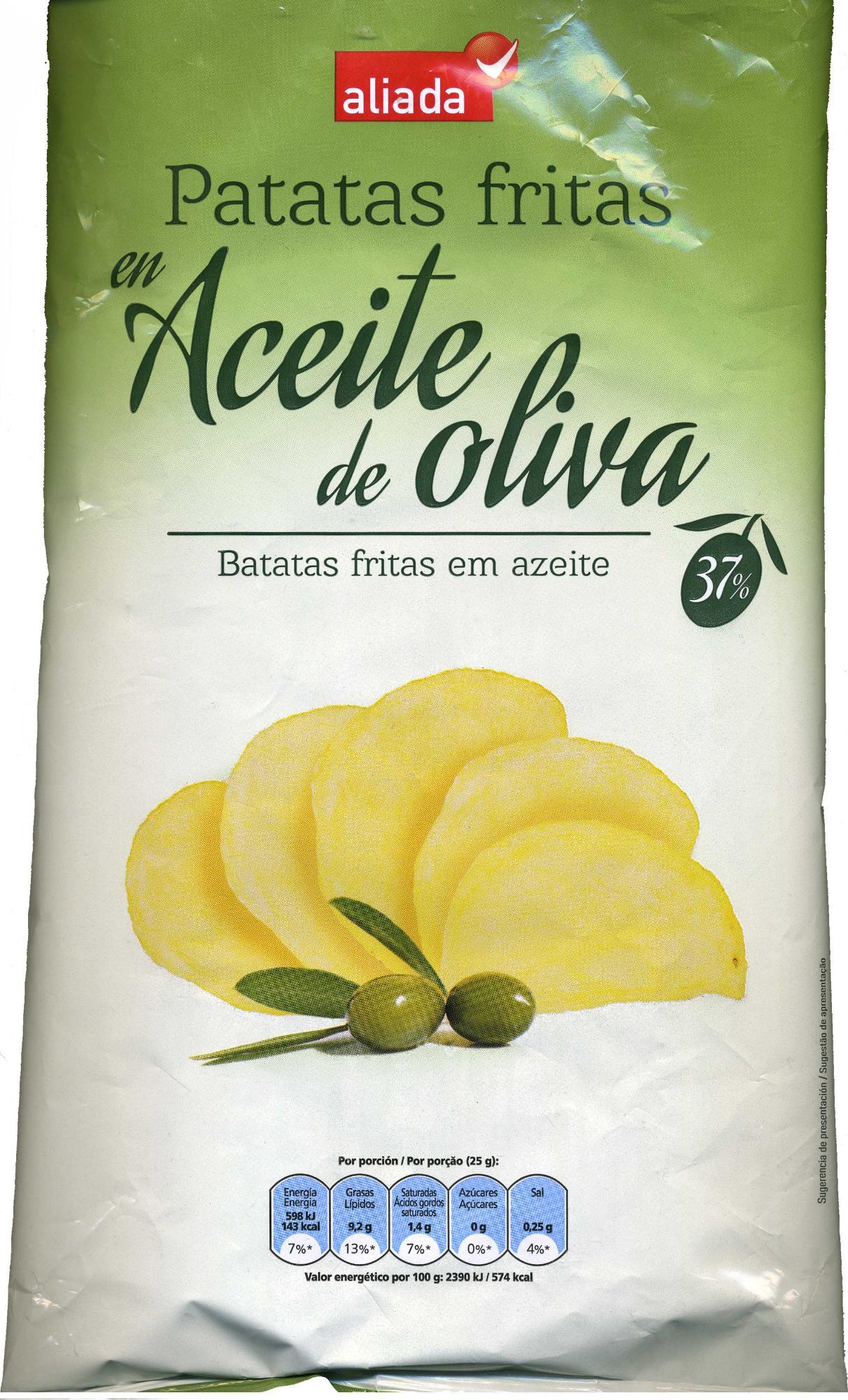 Patatas fritas lisas en aceite de oliva - Produit - es