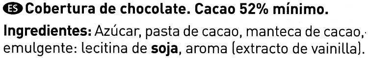 Cobertura de chocolate negro especial repostería - Ingredientes