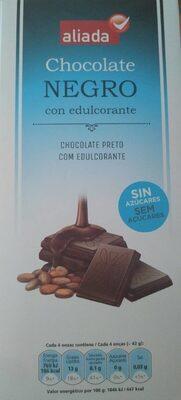 Chocolate negro con edulcorante sin azúcares - Product