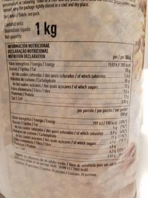 Muesli 10 frutas - Nutrition facts