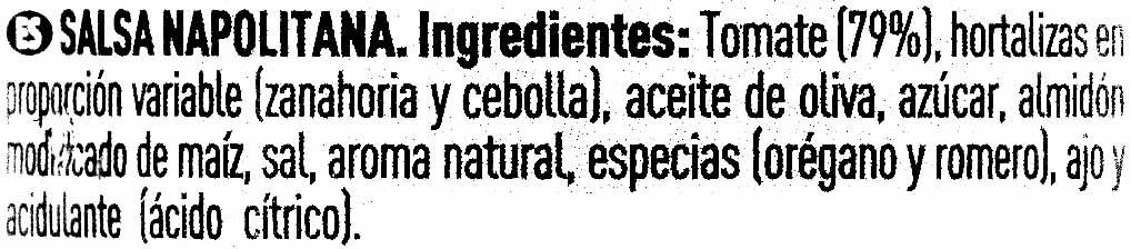 Salsa napolitana - Ingrediënten - es