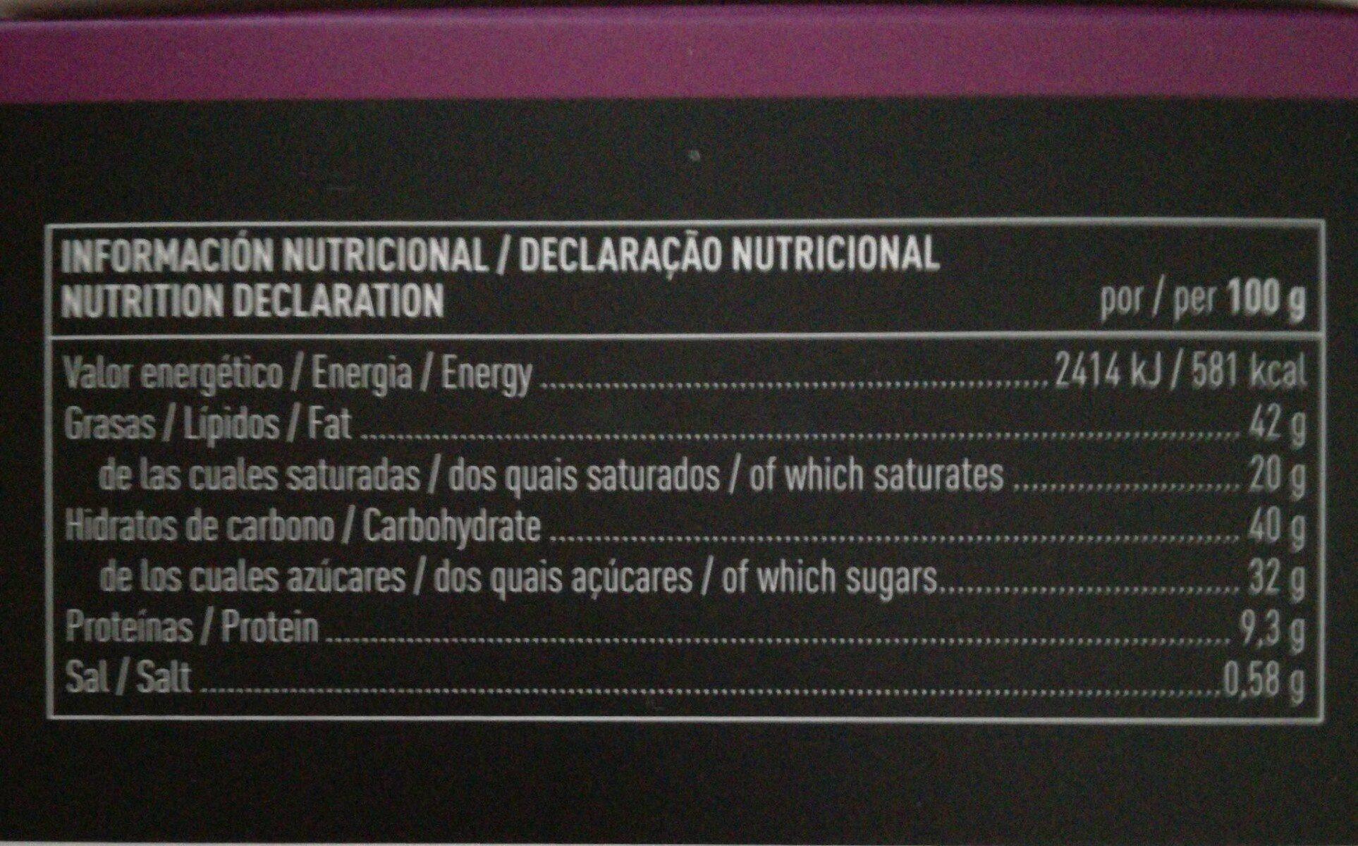 Bombón de avellana y praliné - Nutrition facts