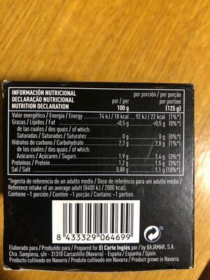Yemas de espárragos muy gruesas - Informations nutritionnelles - es