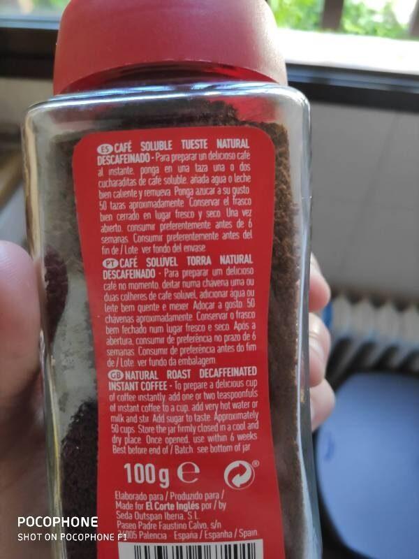 Café soluble descafeinado - Ingrédients - es